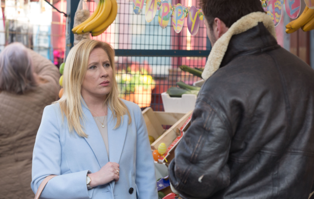 Annie comes face to face with Martin in EastEnders
