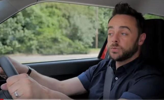 Ant McPartlin driving