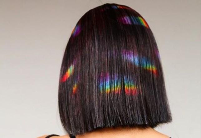 baby rainbow prism hair