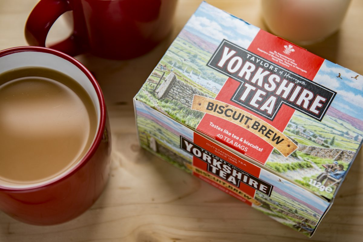 Yorkshire Tea has just launched some tea and biscuits flavoured tea bags