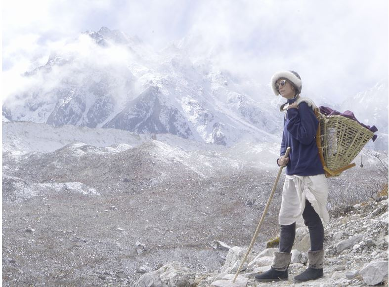 Elise Wortley in Himalayas