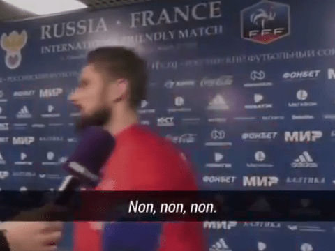 Olivier Giroud blows up and threatens to cut short interview over Kylian Mbappe distraction