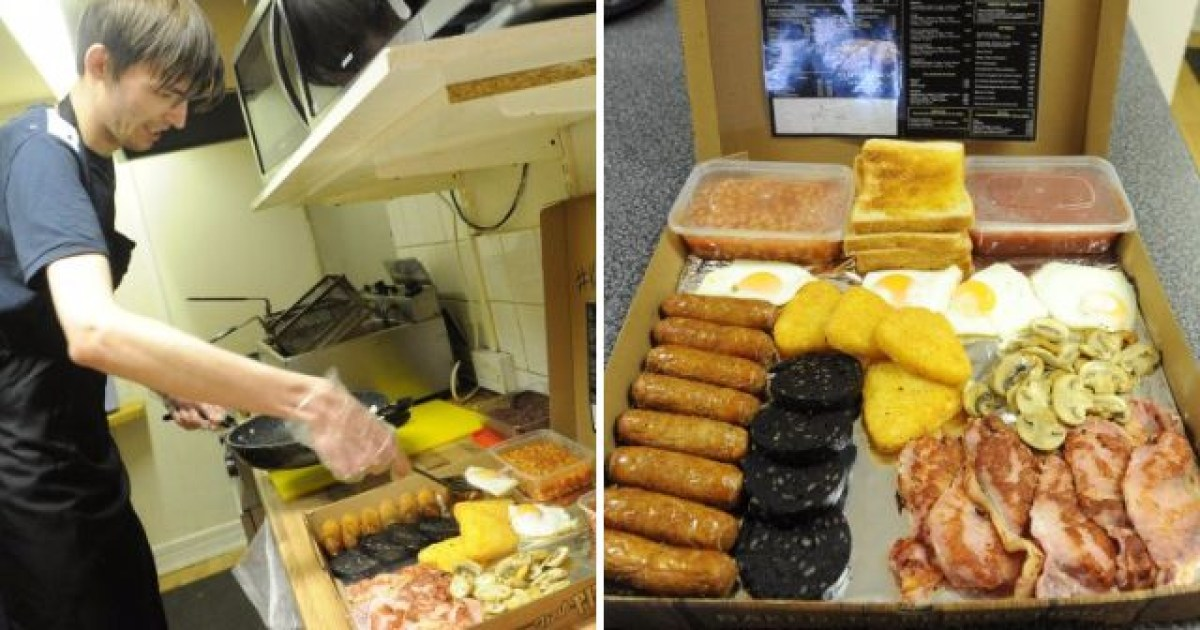 Cafe In Hull Creates Monster Breakfast So Big Its Served In