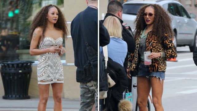 Mel B arriving on America's Got Talent set after Stephen Belafonte and Eddie Murphy dramas
