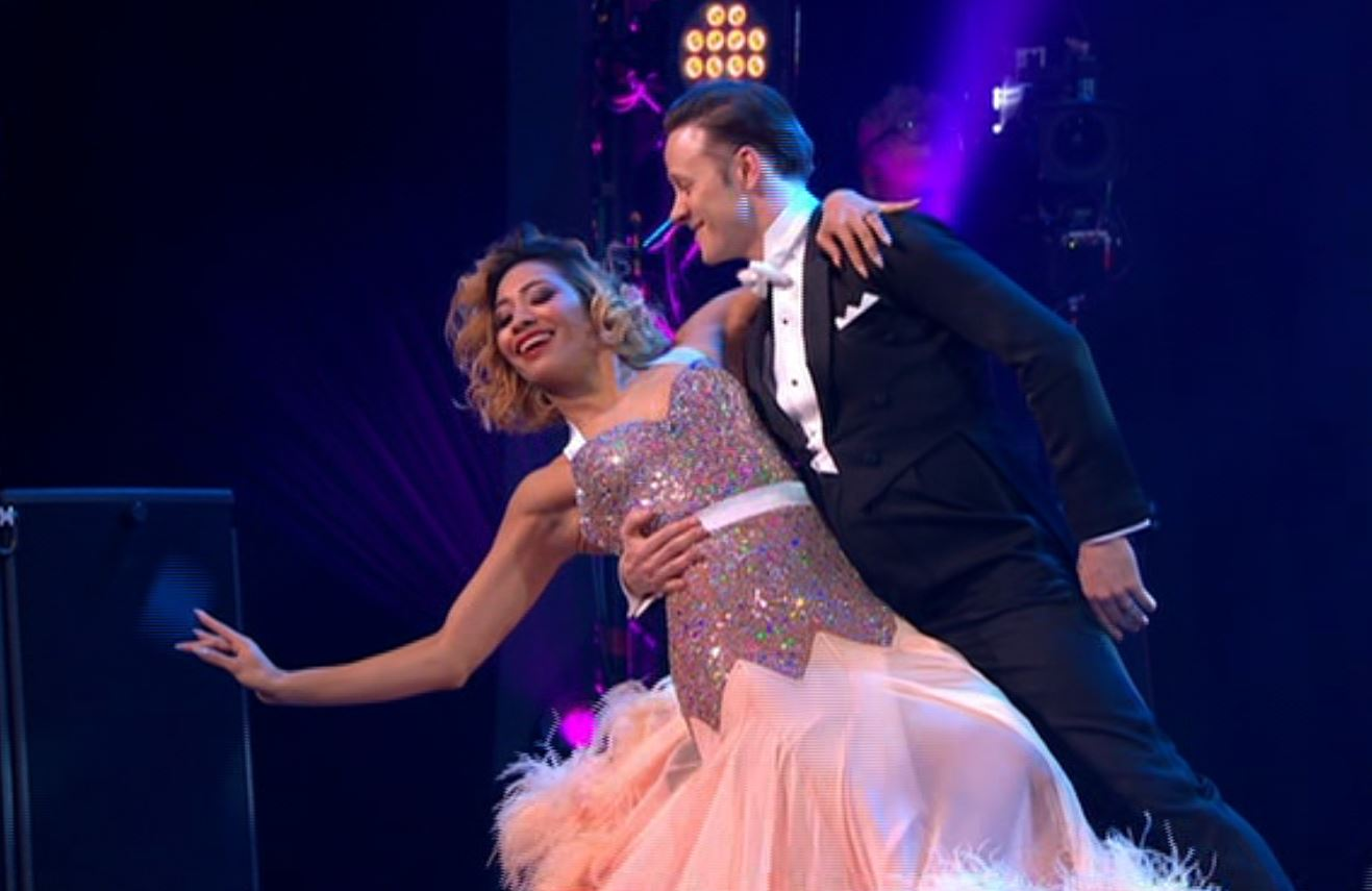 Karen and Kevin Clifton back together on the dancefloor for the first time since split rumours