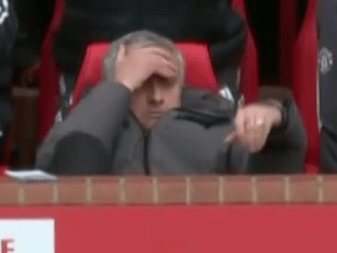 Jose Mourinho's can't hide his anger at Juan Mata for missing gilt-edged chance against Liverpool