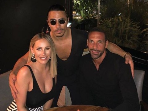 Rio Ferdinand and Kate Wright have romantic dinner with Salt Bae in Dubai