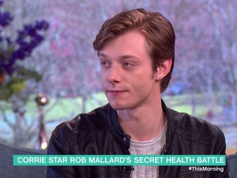 Coronation Street star Rob Mallard opens up about his secret health battle