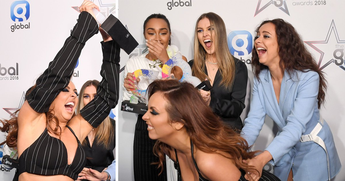 Jesy Nelson is living her best life as she celebrates Little Mix's three wins at Global Awards
