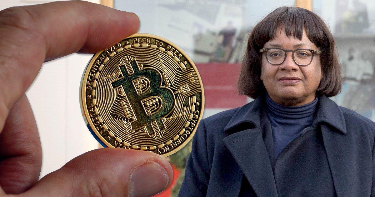 Bitcoin is a 'gigantic Ponzi scheme' and used to fund terrorism, Diane Abbott says