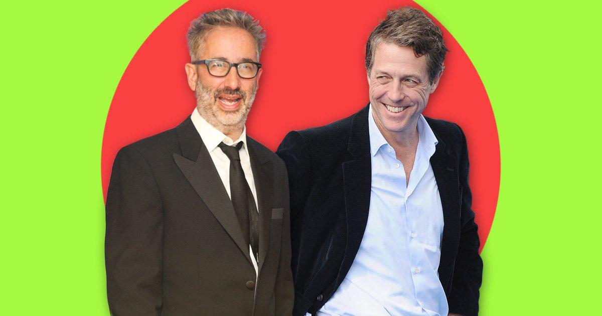 Hugh Grant and David Baddiel talk about wanking