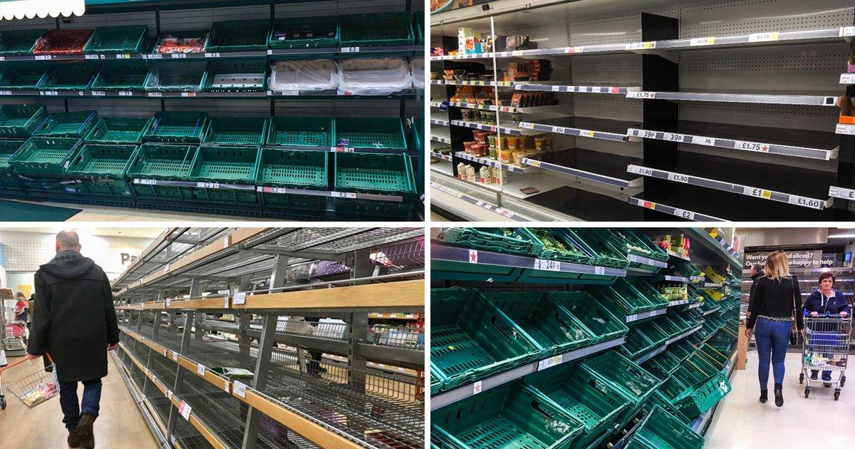 Why supermarket shelves are still empty across the UK