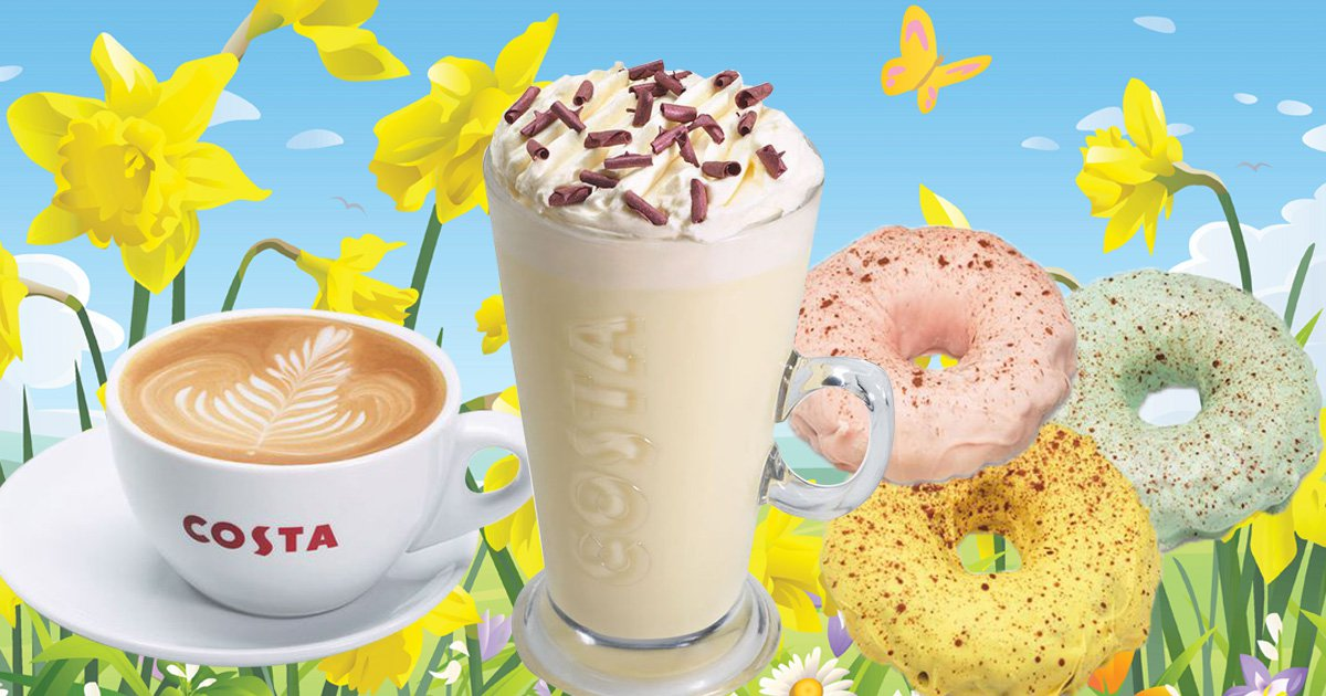 Costa's new spring menu is here and the white hot chocolate is back