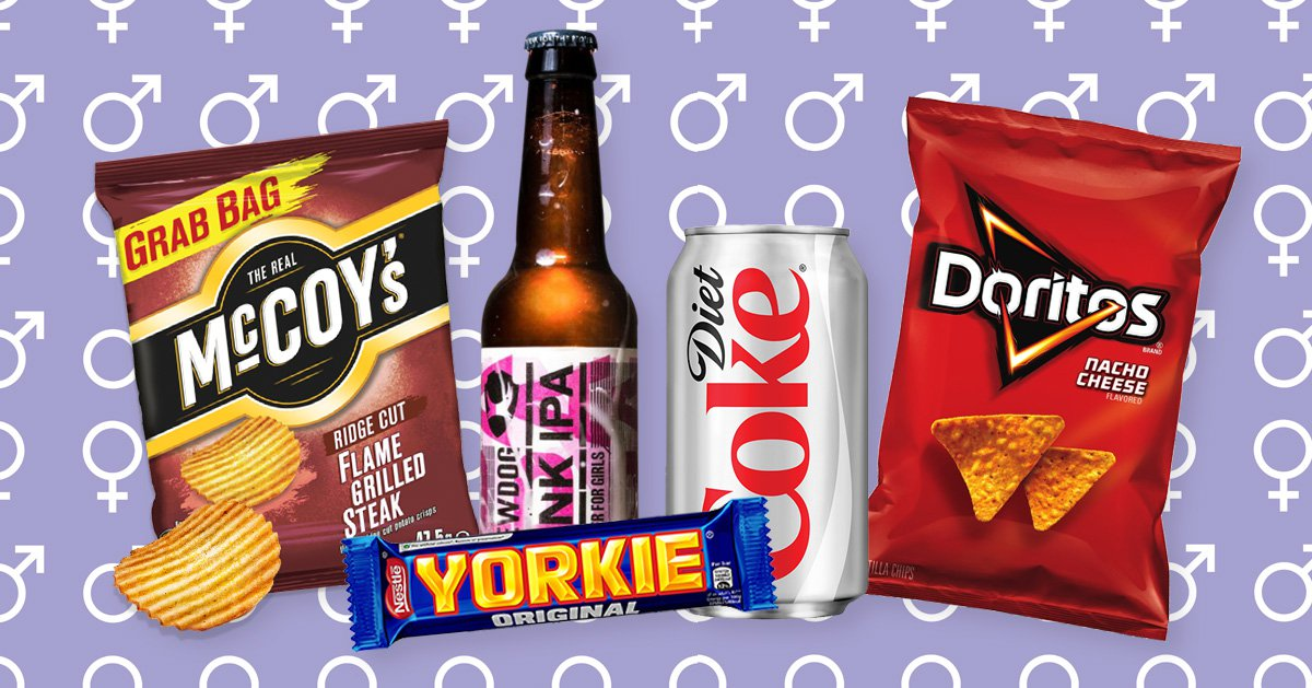Food and drink isn't gendered – so can companies please stop marketing it as if it is?