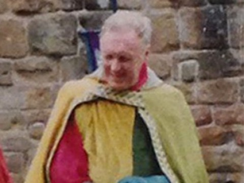 Reenactment enthusiast used golden cloak to hide his hands as he groped women