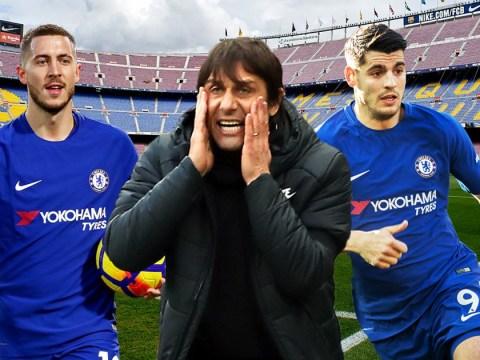 Antonio Conte must risk Eden Hazard backlash once again to beat Barcelona