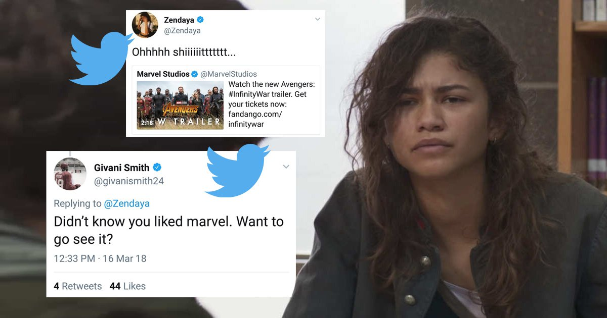 Zendaya hit on by hockey player in the clumsiest way ever – and the Internet won't let him forget it