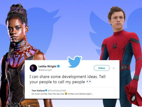 Black Panther's Letitia Wright has some ideas for Spider-Man's Tom Holland