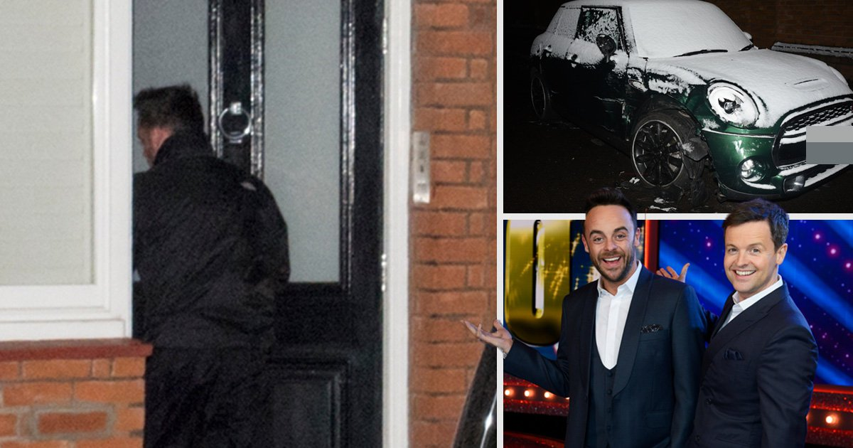 Ant McPartlin arrives home after drink driving arrest as police continue investigation