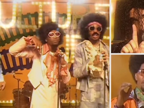 Drake dons an excellent wig in Migos' new '70s-inspired video for Walk It Talk It