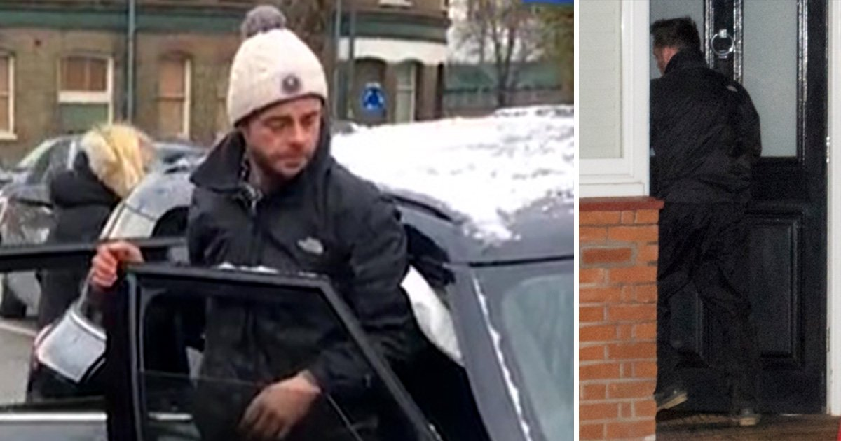 Troubled Ant McPartlin looks shaky as he emerges from smashed up car moments after crash