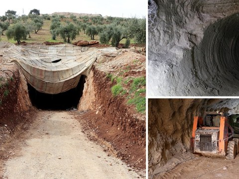 Secret 'terror tunnel' found in Syria after coalition forces take control of city