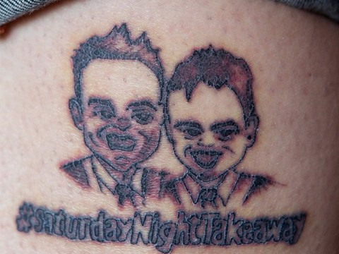 Dad gets Ant and Dec tattoo for Saturday Night Takeaway competition – hours before Ant's arrest