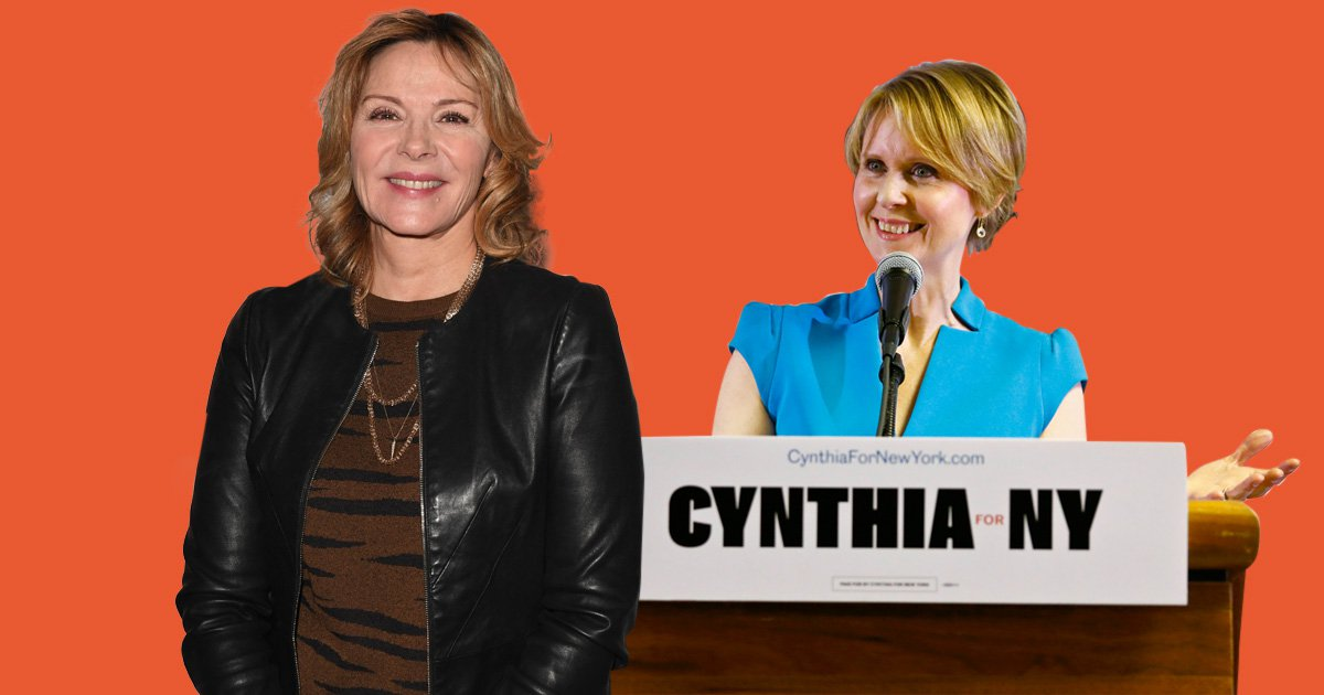Kim Cattrall is right behind Cynthia Nixon's decision to run for Governor