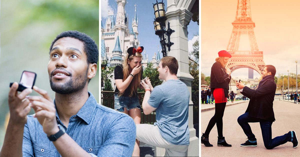 The most popular landmarks where people propose
