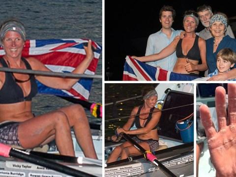 Brain tumour survivor becomes fastest woman to row solo across the Atlantic