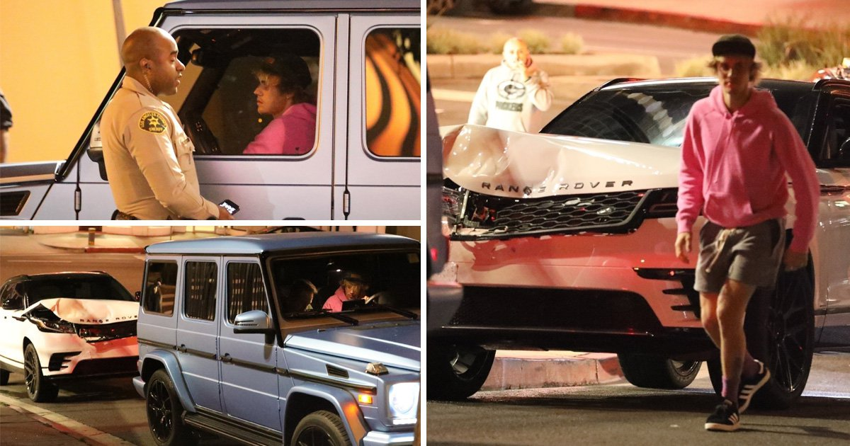 Justin Bieber involved in Hollywood car crash amid Selena Gomez split rumours