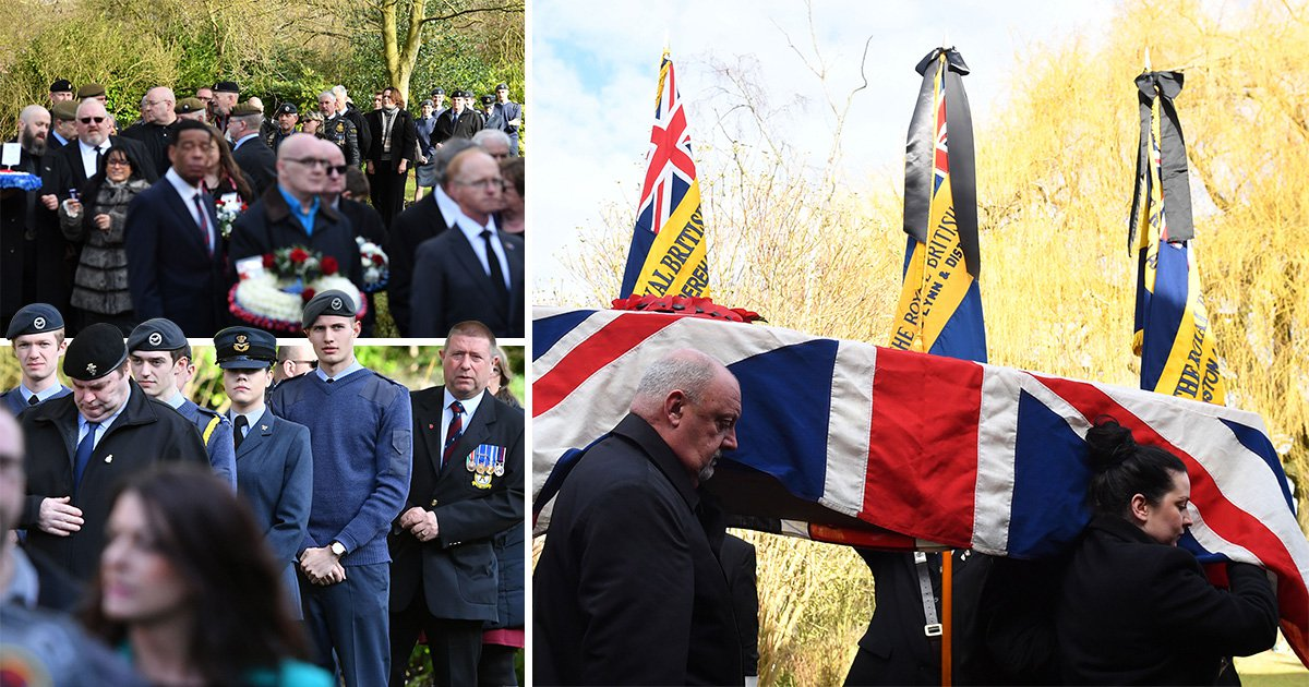 More than 100 strangers turn up to funeral of RAF hero who died with no family