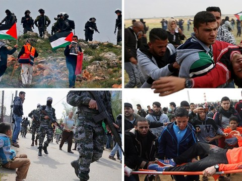 At least 15 dead and 750 injured in massive Gaza border protest