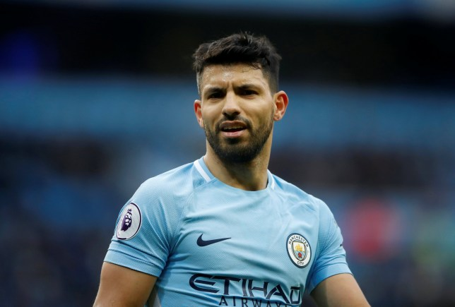 """Soccer Football - Premier League - Manchester City vs Chelsea - Etihad Stadium, Manchester, Britain - March 4, 2018 Manchester City's Sergio Aguero Action Images via Reuters/Carl Recine EDITORIAL USE ONLY. No use with unauthorized audio, video, data, fixture lists, club/league logos or """"live"""" services. Online in-match use limited to 75 images, no video emulation. No use in betting, games or single club/league/player publications. Please contact your account representative for further details."""
