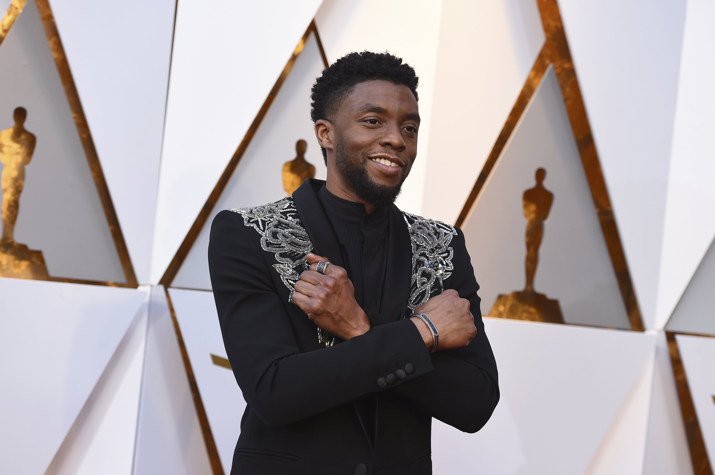 Don't ask Chadwick Boseman to do the Wakanda Forever sign any more