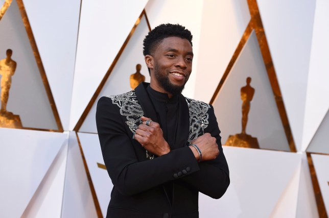Chadwick Boseman arrives at the Oscars on Sunday, March 4, 2018, at the Dolby Theatre in Los Angeles. (Photo by Jordan Strauss/Invision/AP)