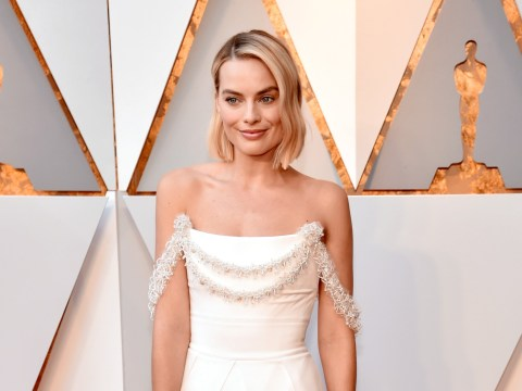 Margot Robbie's custom white Chanel Oscars dress took more than 600 hours to create