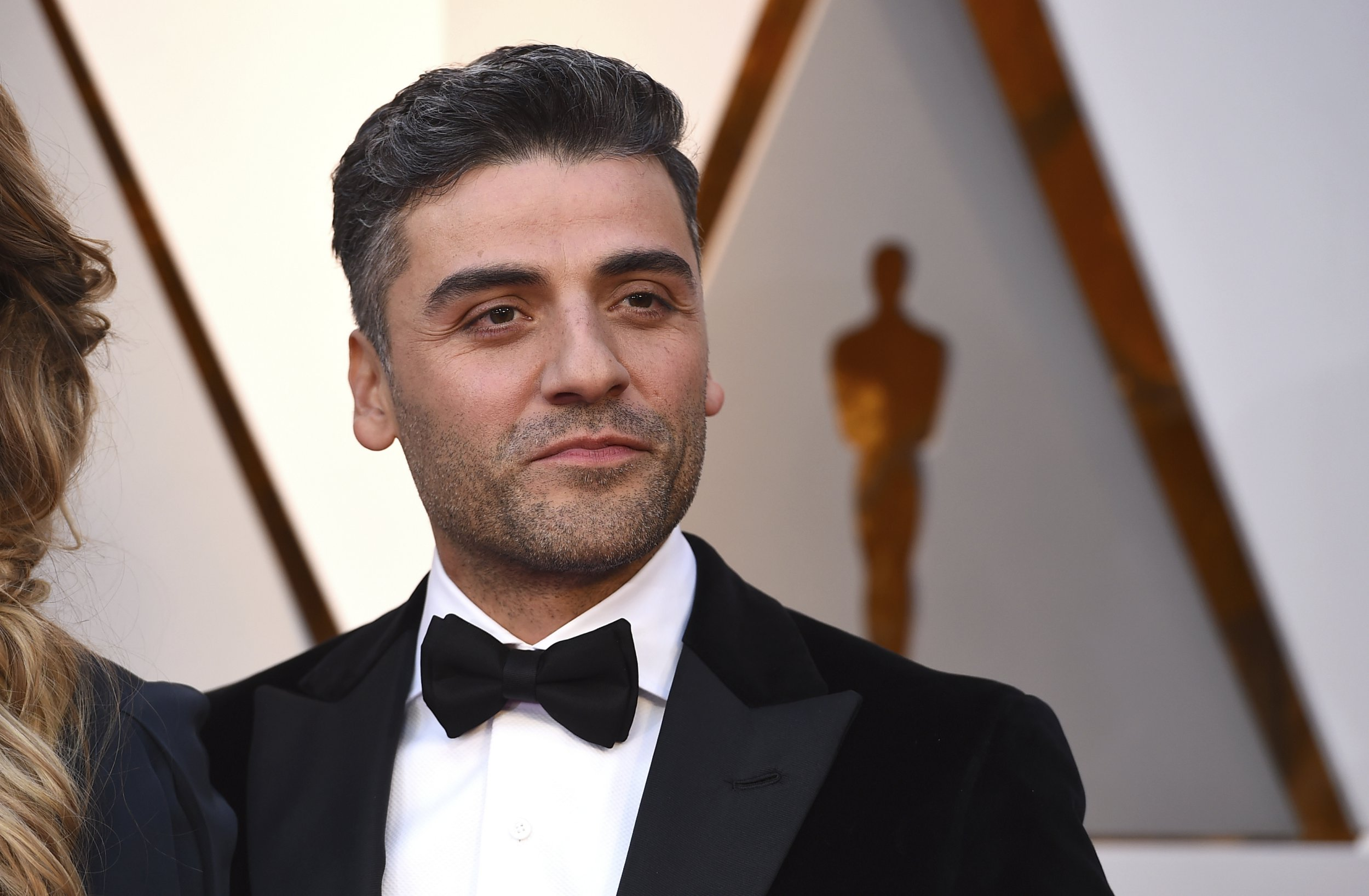 Oscar Isaac arrives at the Oscars on Sunday, March 4, 2018, at the Dolby Theatre in Los Angeles. (Photo by Jordan Strauss/Invision/AP)