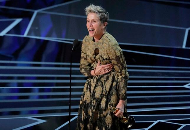 90th Academy Awards - Oscars Show - Hollywood, California, U.S., 04/03/2018 - Frances McDormand wins the Best Actress Oscar for Three Billboards Outside Ebbing, Missouri. REUTERS/Lucas Jackson