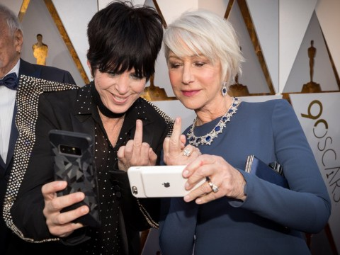 Helen Mirren flips the bird in badass Oscars selfie with Diane Warren