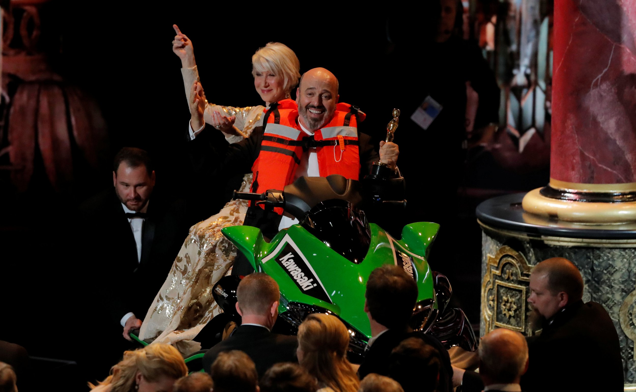 Someone actually won the Oscars jet ski after Jimmy Kimmel offered it up as a prize