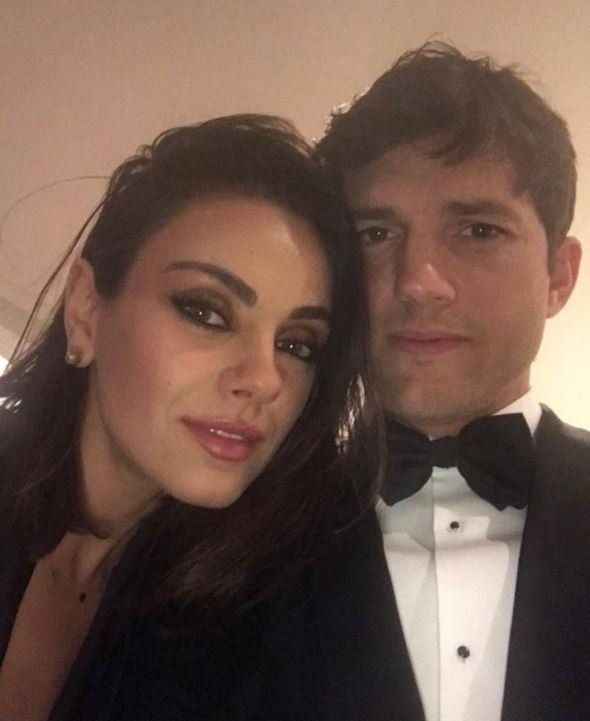 Mila Kunis and Ashton Kutcher share a rare selfie together on their Oscars date night