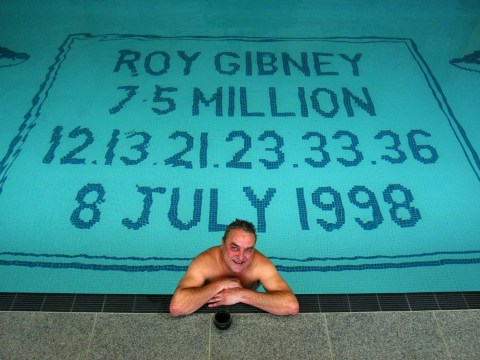 Lottery winner so proud of his winning numbers he put them in his swimming pool