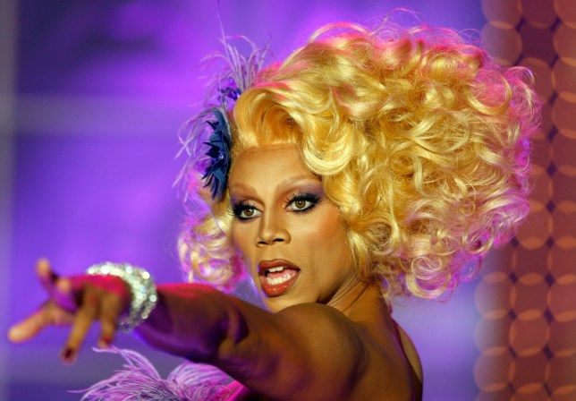 RuPaul takes the stage during the taping of RuPaul's Drag Race Season 2 in Culver City JULY 31, 2009. The television show's host, drag queen RuPaul mentors then judges a set of young drag queens during several competitions in their quest to become the ultimate drag queen (Photo by Mark Boster/Los Angeles Times via Getty Images)
