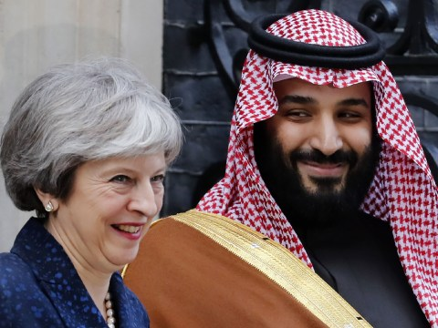 Saudi Arabia's Crown Prince talks trade with Theresa May after lunch with the Queen