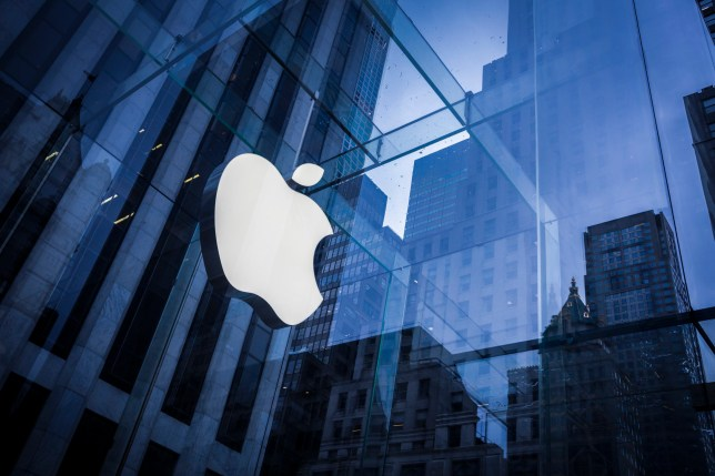 New York, United States of America - February 25: Company logo of Apple on an Apple store in Manhattan on February 25, 2016 in New York, United States of America. (Photo by Thomas Trutschel/Photothek via Getty Images)