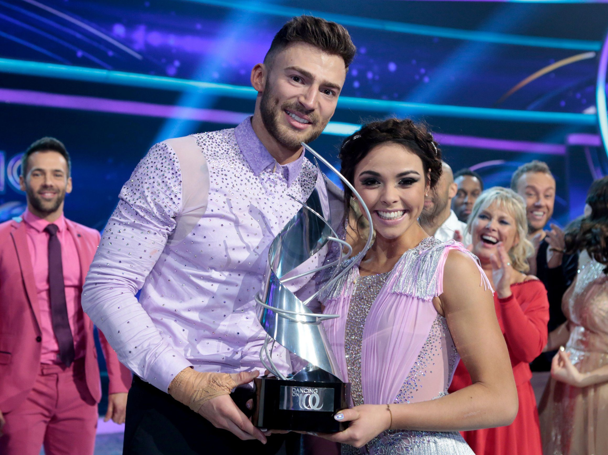 Editorial Use Only. No Merchandising. Mandatory Credit: Photo by Matt Frost/ITV/REX/Shutterstock (9452917fo) Jake Quickenden and Vanessa Bauer 'Dancing on Ice' TV show, Series 10, Episode 10, The Final, Hertfordshire, UK - 11 Mar 2018