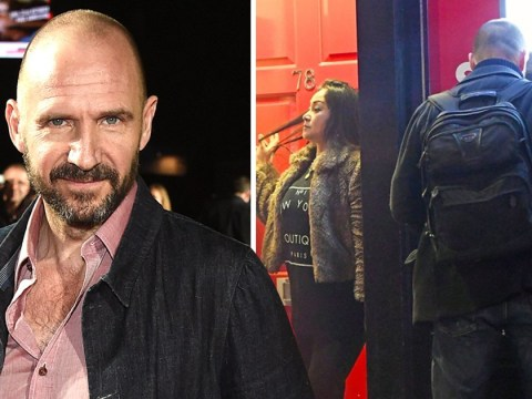 Ralph Fiennes is escorted to cash machine after late night visit to massage parlour