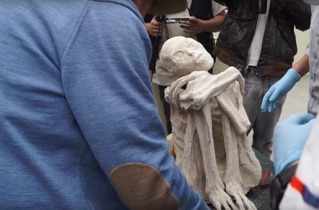 Picture: YouTube/ Gaia Three-fingered mummies found in Peru 'are not human', scientists claim