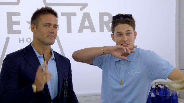 Joey Essex is give n the job of Bell Boy at the hotel on 'Five Star Hotel'. Broadcast on E4 Featuring: Joey Essex, Spencer Matthews When: 12 Mar 2018 Credit: Supplied by WENN **WENN does not claim any ownership including but not limited to Copyright, License in attached material. Fees charged by WENN are for WENN's services only, do not, nor are they intended to, convey to the user any ownership of Copyright, License in material. By publishing this material you expressly agree to indemnify, to hold WENN, its directors, shareholders, employees harmless from any loss, claims, damages, demands, expenses (including legal fees), any causes of action, allegation against WENN arising out of, connected in any way with publication of the material.**